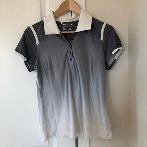 Adidas Climacool Ombré Grey Golf Shirt S